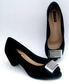 047823fc51 Sapato Feminino Barbara Krás Peep - Sapatos no Mercado Livre Brasil