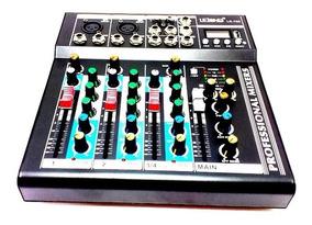Mesa De Som 4 Canais Bluetooth Mixer Mp3 Player Digital Usb