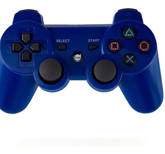 Joystick Controle Ps3 Dazz Sem Fio Bluetooth Dualshock3 Azul