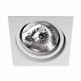 Spot Par20 Orbital Quadrado Direcionavel Em Aluminio