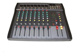 Consola De Audio Mixer Dj 8 Canales Efectos E-sound Fx-830