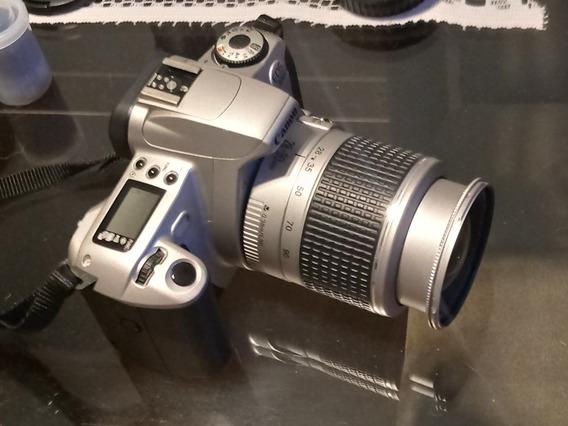 Câmera Canon Eos 300 + Lente 28-90mm + Maleta + Filme 35mm