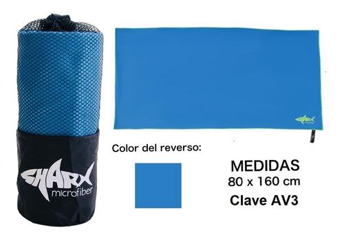 Toalla Microfibra Sharx* 80x160cm Azul Claro Envío Gratis