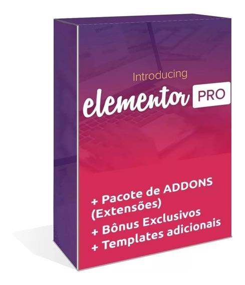 Elementor Pro Wordpress Plugin + Addons (extensões)