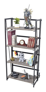 Librero Plegables Moderno Elegante Estante Oficina Hogar