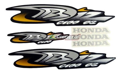 Kit Adesivo Jogo Faixas Moto Honda Biz 100 2004 Es Preta