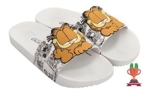 Chinelo Feminino Zaxy Lazy Garfield Slide Personagem Gato