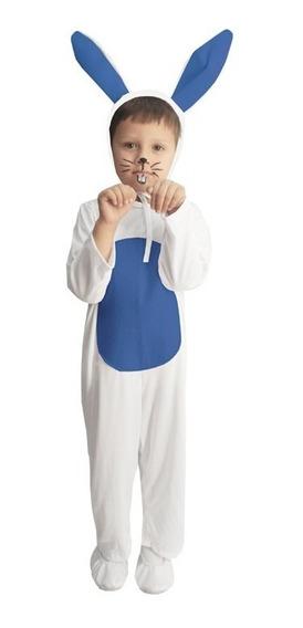 Disfraz De Primavera Conejo Azul Unisex Niño