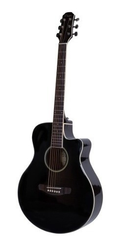 Guitarra Acustica Parquer Media Caja Corte Apx Negra Cuota