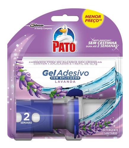 Odorizador Sanitário Pato Gel  Aplicador + Refil Lavanda