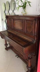 Piano Alemão H.gutschow 1873 - Bela Peça E Rara