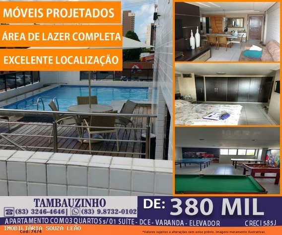 Apartamento Para Venda Em João Pessoa, Tambauzinho, 3 Dormitórios, 1 Suíte, 1 Banheiro, 1 Vaga - 7474