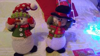 Navidad Adornos Arbol Hogar Luces Peluchitos Muñecos Luminos