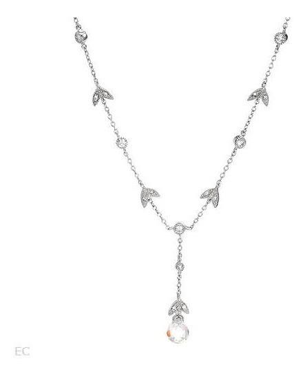 Collar De Plata 925 Con Zirconias, Joyeria Para Novia Dmm