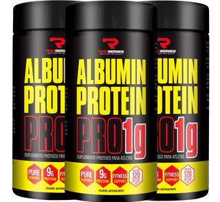 Kit 3x Albumina Protein Pro 1g (120 + 120 Tabs) Red Séries