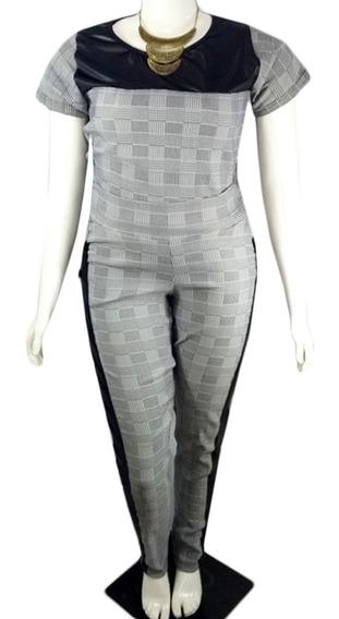 Conjunto Xadrez Feminino Calça E Blusa G Gg Eg Exg Plus Size - Frete Gràtis