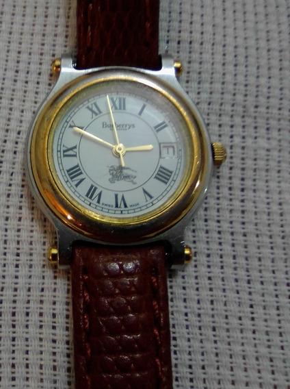 Burberrys London 8100 Reloj Para Dama, Correa De Piel Café
