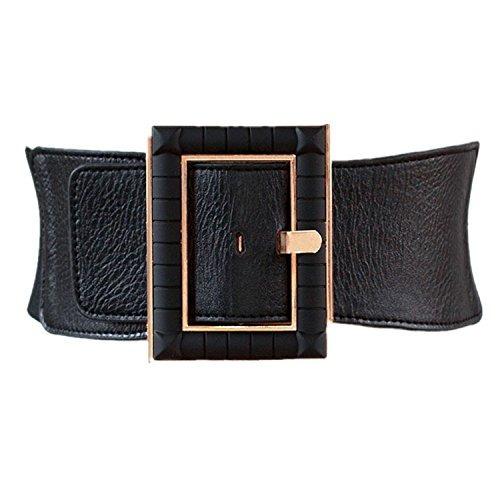 Cinturon Elastico Ancho De Cintura Alta Para Vestido De Muje
