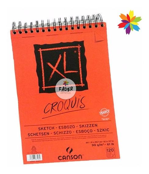 Block Xl Croquis A4 90gr 120 Hoj Canson Sketch Barrio Norte