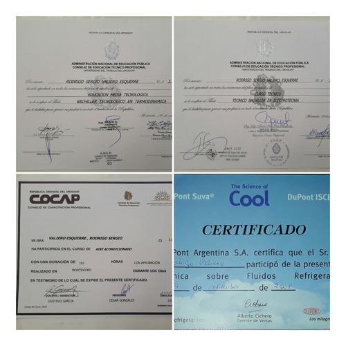 Tecnico Instalador De  Aire Acondicionado,  Tel.098855762