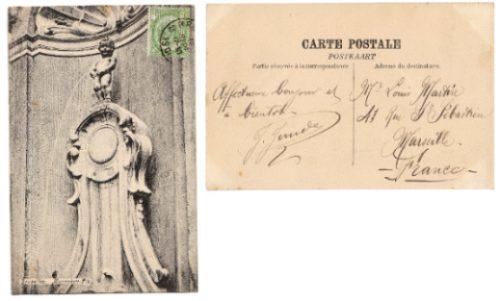Belgica Postal Particular Estatua De Bruselas