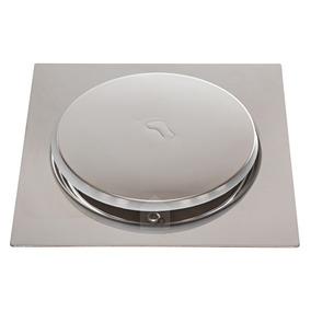 Ralo Inteligente Click Banheiro 10x10 Cm Inox Veda Cheiro