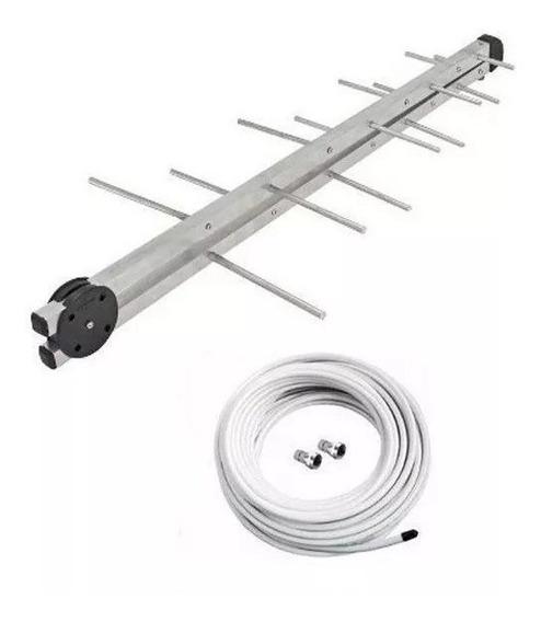 Antena Externa Digital Para Tv + Cabo 25 Metros + 2 Conector