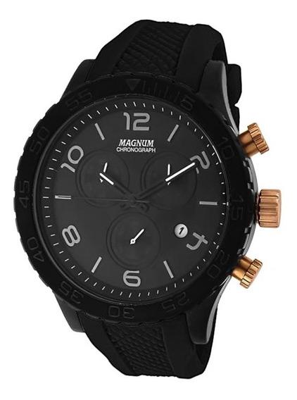 Relógio Magnum Masculino Cronógrafo Ma33504p Preto Aço