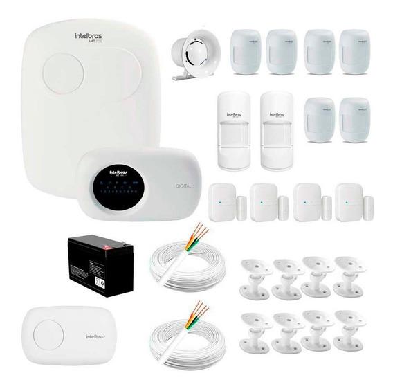 Segurança Residencial Intelbras Amt 2110 + 12 Sensores Infra