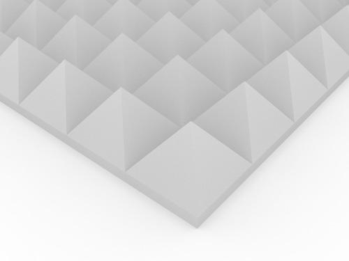 Placa Panel Acústico Ignifugo Piramid Premium 610x610x50mm