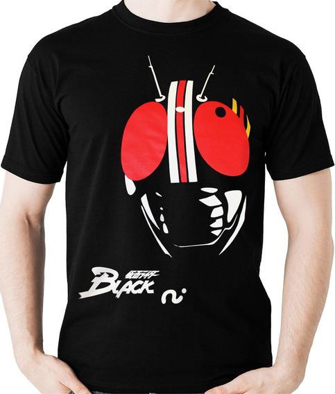 Camiseta Kamen Rider Black Tokusatsu Nerd Geek Camisa Blusa