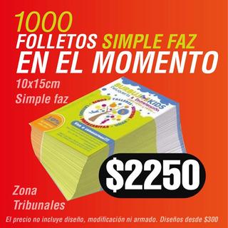 Flyers Folletos Volantes Color 10x15 Promo X1000 Ilustración