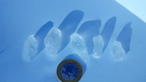 Imagem 1 de 7 de Cristal Cinco Pedras Ponta De Cristal Natural De 2 A 5 Cm