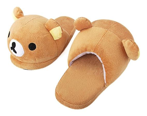 Pantuflas Rilakkuma Oso Cute Kawaii Mujer Niños Bear Unisex