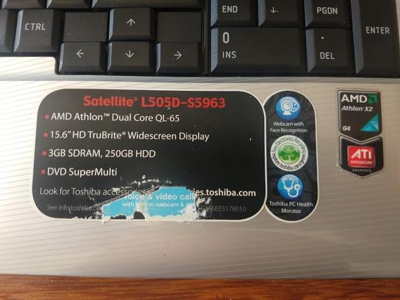 Notebook Satellite L505d-s5963 Toshiba Placa Mãe Danificada