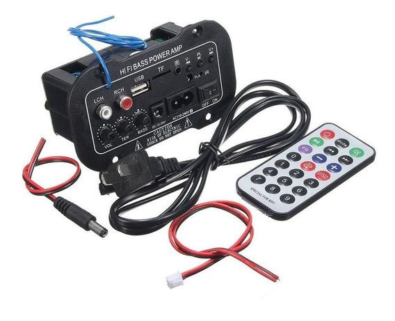 Placa De Som Amplificada 60w Decodificador Mp3/bluetooth