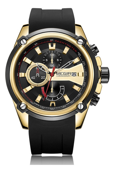 Megir 2086 Reloj Hombre Deporte Crongrafo Correa De