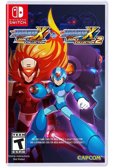 Mega Man X Legacy Collection 1 + 2 Switch Mídia Física Novo