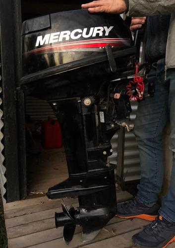 Imagen 1 de 10 de Motor Fuera De Borda Mercury 15 Hp 2tiempo Usado Como Nuevo!