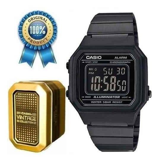 Reloj Casio Retro Negro B650 Original Acero Vintage Unisex