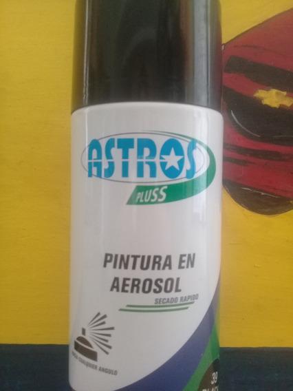 Pintura Spray Astros Plus Negro Brillante 400cm3