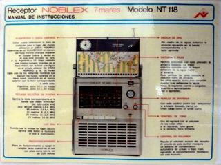 Manual Radio Noblex 7 Mares Nt 118 - Copia Plastificada (2n)