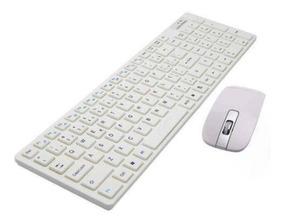 Teclado Mouse Óptico Wireless Pc Note Eletrônico Escritório