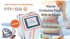 Alquiler-criolipolisis Plana (sin Succión) E Indolora + Onda