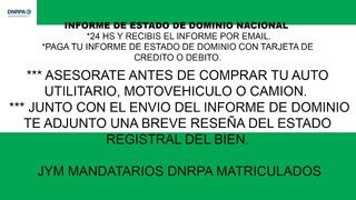 Informe De Estado De Dominio