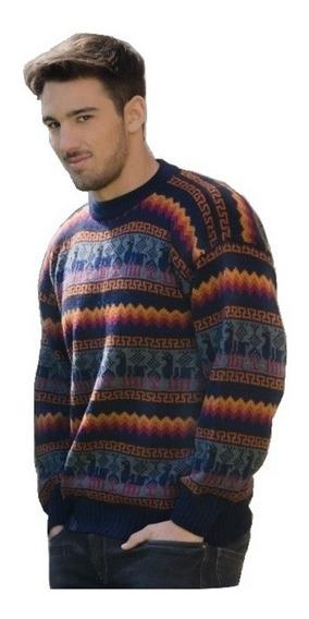 Sweaters Pullover Zipper Lana De Alpaca Unisex Talle L