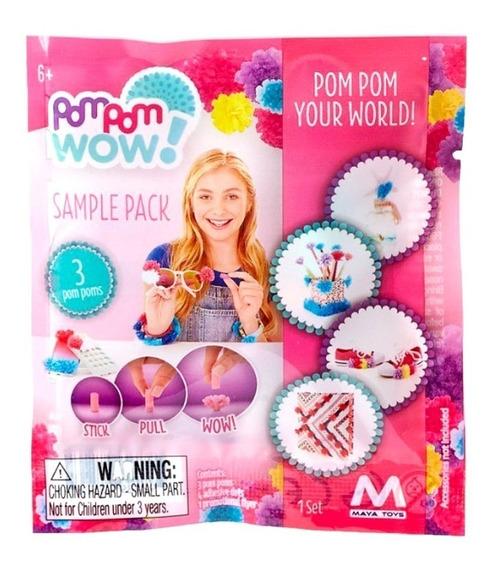 Pom Pom Wow Combo 60 Pompones Para Decorar (20 Bolsitas)