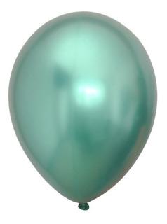 Globos R12 Cromados Satinados Paquete X5 1 Color Bomba