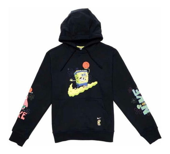 Sudadera Hoodie Kyrie Nike X Bob Esponja Negra Spongebob