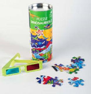 Puzzle Dinosaurio 2 Cartón 3d Rompecabezas Infantil Juegos